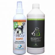 Ecodor EcoPet odour and stain remover - 250ml + 1 ltr refill new design
