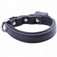 GogiPet ® Soft leather dog collar black with 35 cm