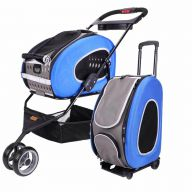 Dog buggy and dog trolley blue