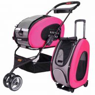 Dog buggy and dog trolley pink