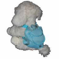 Backpack for Dogs - dog harness blue in size S of GogiPet®