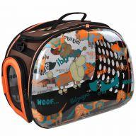 Designer dog carrier with funny dogs
