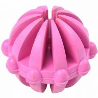 Dog toys - pink rubber ball for snacks