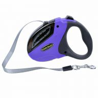 GogiPet Roll automatic retractable dog leash Mini S with 5 meters for dogs up to 20 kg Purple