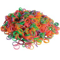 neon coloured latex rings for show dogs