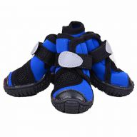 GogiPet neoprene dog shoes blue with rubber sole