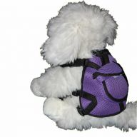 Backpack for Dogs - dog harness purple in size S of GogiPet®