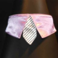 purple collar with white tie for dogs - GogiPet ®  size L