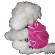 Dark Pink Harness for Dogs by GogiPet ® incl Dog Leash Size L