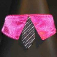 dark pink collar with black tie for dogs large