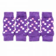 GogiPet dog leggings purple with polka dots