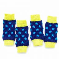 Knitted leggings for dogs blue - yellow