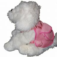 Pink Harness for Dogs by GogiPet ® incl Dog Leash Size L