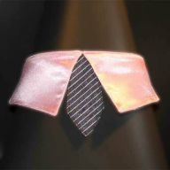 light pink collar with black tie for dogs - GogiPet ®  size L