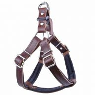Comfortable leather dog harness brown M by GogiPet ®