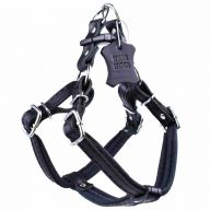 Leather harness for dogs black L by GogiPet ®