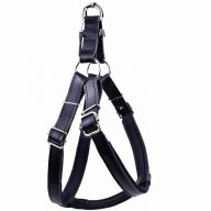 Leather dog harness black XXL by GogiPet ®