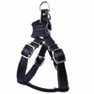 Leather dog harness black M by GogiPet ®