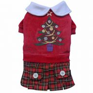 Christmas dress with Christmas tree for dogs of DoggyDolly ST011