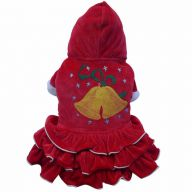 Christmassy dog dress with Glöckenen - dog clothes DoggyDolly ST013
