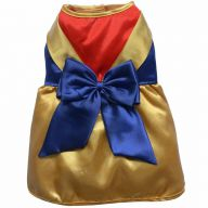 TRIOColour gold dress for dogs - the golden dog dress by DoggyDolly ST018