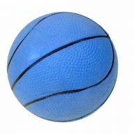 Rubber dog ball with 9 cm blue