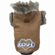 warm dog clothes - the dog coat brown Eskimo as dog anorak - DoggyDolly W012