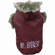 red dog anorak of DoggyDolly W024 - Mount Everest anorak for dogs red - warm dog clothing