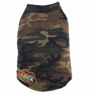 Warm Fleece dog coat of DoggyDolly W027 camouflage