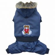 Dog clothing for the winter - blue dog anorak of DoggyDolly W075