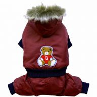 DoggyDolly W076 - red Eskimo with 4 feet of snow suit for dogs
