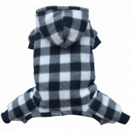 Fleece pet clothes with 4 legs for winter - dog dresses