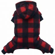 Dog coat with 4 paws and hood from light Fleece