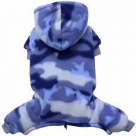 Warm dog clothing for modern dogs - Camouflage dog coat from Fleece