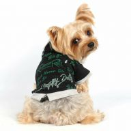 Rock and Roll dog Sweater Black with green lettering