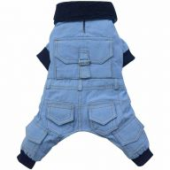 Jeans dog coat light blue with 4 legs of DoggyDolly W183