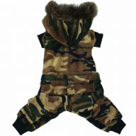Dog coat in the Armylook with 4 legs for the winter of DoggyDolly
