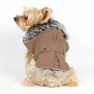 Brown dog coat for winter