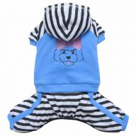 warm dog clothes by DoggyDolly - blue overall with trousers and hood