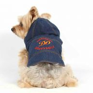 Jeans dog jacket for winter by DoggyDolly W312