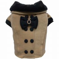 dog clothes by DoggyDolly - brown dog coat for winter
