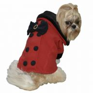warm dog garb red coat for dogs