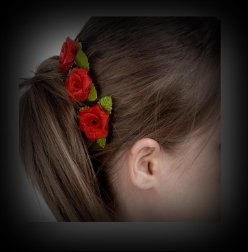 Roses hair ornaments for ladies and dogs